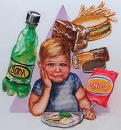 Snek ringan tinggi lemak dan gula